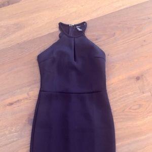 Forever 21. Black halter stretch cocktail dress.S.
